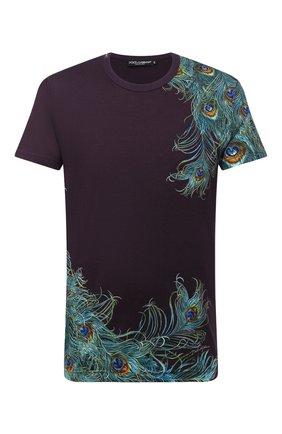 Мужская хлопковая футболка DOLCE & GABBANA фиолетового цвета, арт. G8MH3T/FI75Z | Фото 1