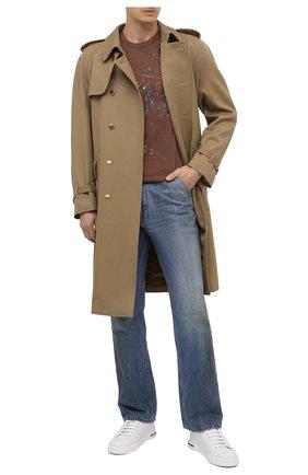Мужская хлопковая футболка DOLCE & GABBANA коричневого цвета, арт. G8LW3T/G7XSS | Фото 2