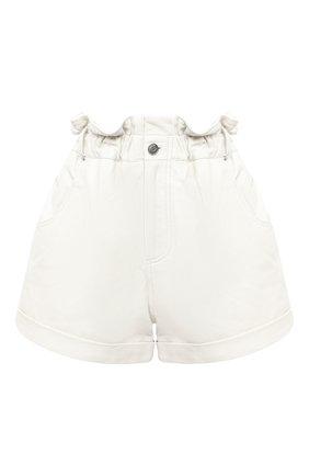 Женские кожаные шорты GRLFRND бежевого цвета, арт. GRF5 -S20 | Фото 1