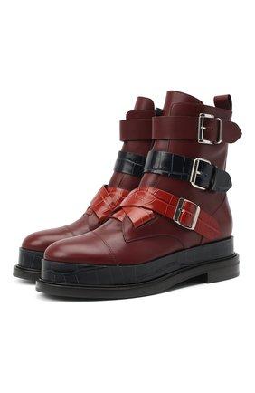 Женские кожаные ботинки CASADEI бордового цвета, арт. 1R195R0201C0933A697   Фото 1