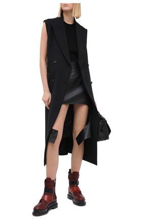 Женские кожаные ботинки CASADEI бордового цвета, арт. 1R195R0201C0933A697   Фото 2