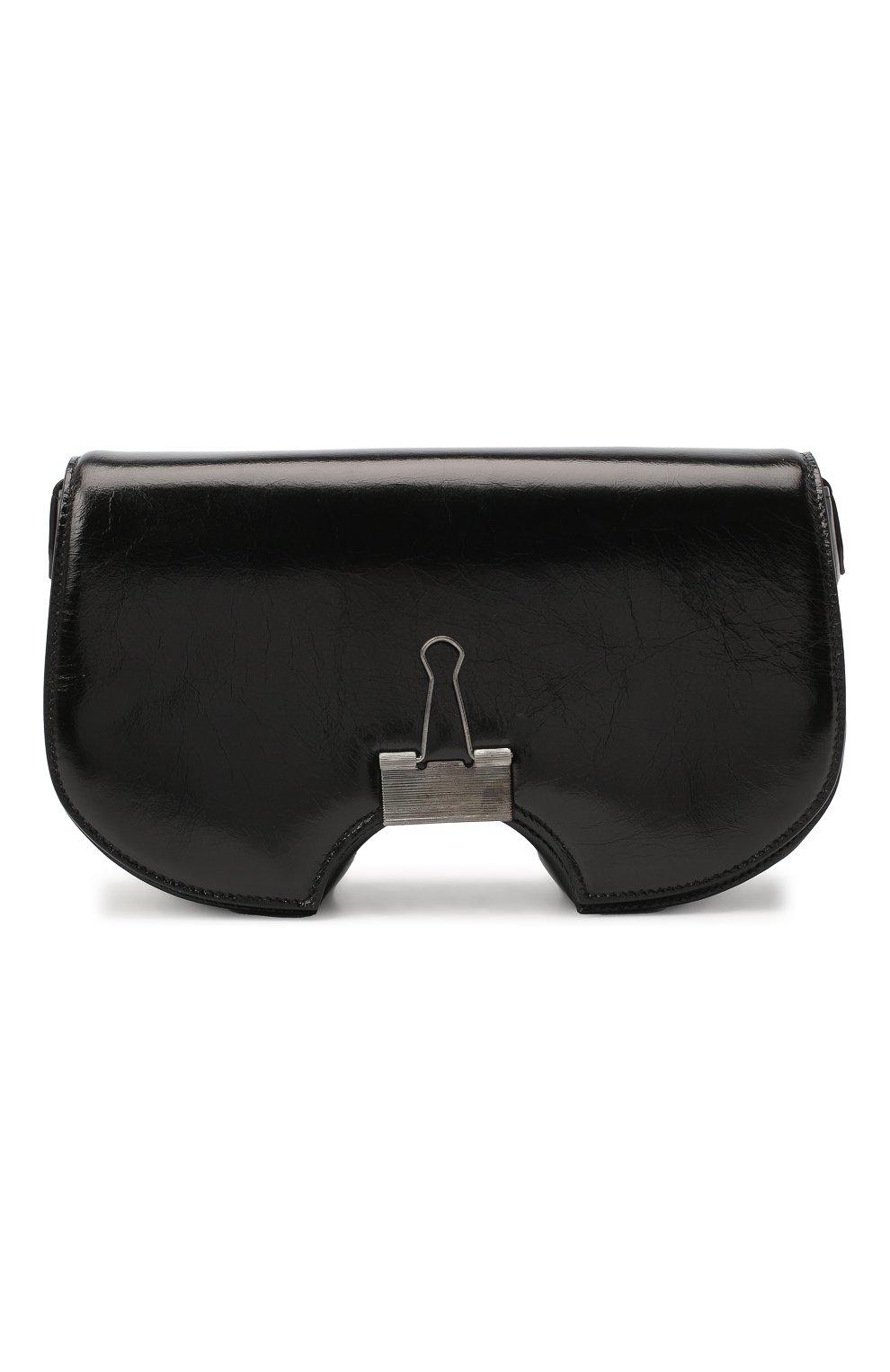 Женская сумка swiss flap OFF-WHITE черного цвета, арт. 0WNA141E20LEA0011000 | Фото 1
