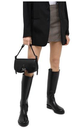 Женская сумка swiss flap OFF-WHITE черного цвета, арт. 0WNA141E20LEA0011000 | Фото 2