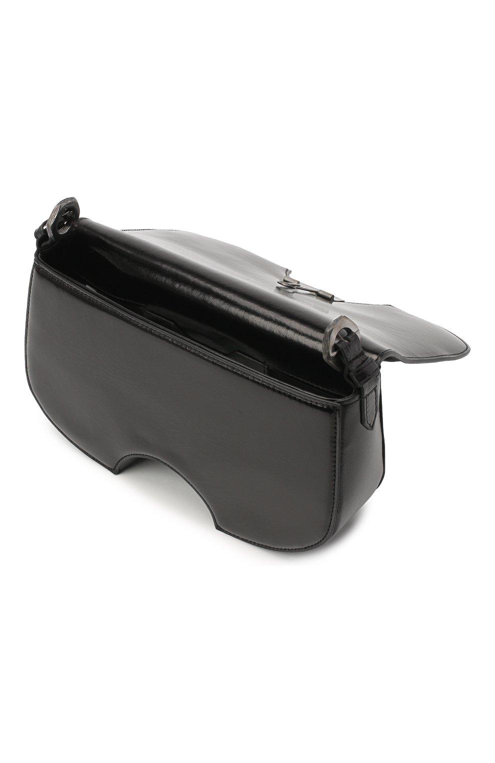Женская сумка swiss flap OFF-WHITE черного цвета, арт. 0WNA141E20LEA0011000 | Фото 4
