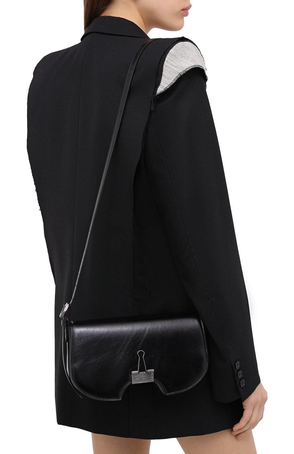 Женская сумка swiss flap OFF-WHITE черного цвета, арт. 0WNA141E20LEA0011000 | Фото 5