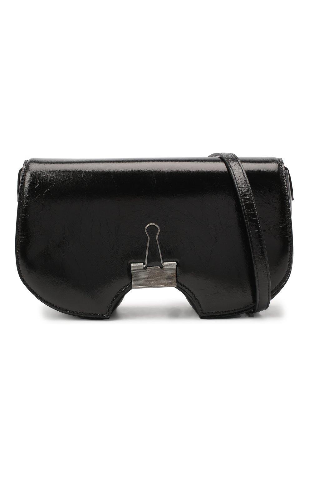 Женская сумка swiss flap OFF-WHITE черного цвета, арт. 0WNA141E20LEA0011000 | Фото 6