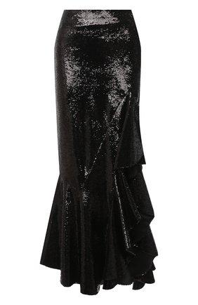Женская юбка с пайетками TOM FORD черного цвета, арт. GCJ271-SDE263 | Фото 1