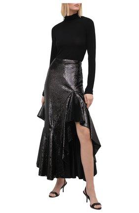 Женская юбка с пайетками TOM FORD черного цвета, арт. GCJ271-SDE263 | Фото 2