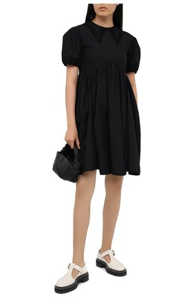 Женское хлопковое платье CECILIE BAHNSEN черного цвета, арт. PF20-0012 | Фото 2