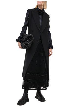 Женская юбка VALENTINO черного цвета, арт. UB3RA6601ED   Фото 2