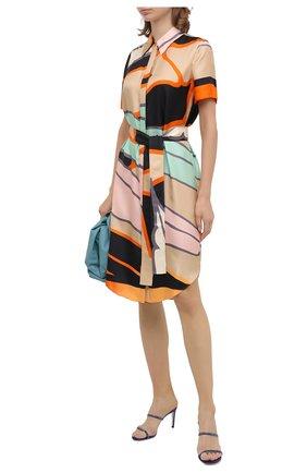 Женские текстильные мюли RENE CAOVILLA фиолетового цвета, арт. C10640-080-R001W224   Фото 2