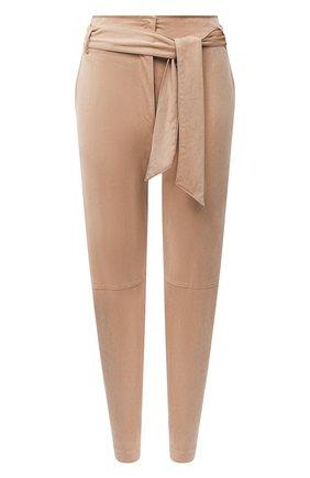 Женские брюки с поясом D.EXTERIOR бежевого цвета, арт. 51808   Фото 1
