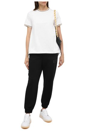 Женская хлопковая футболка MONCLER белого цвета, арт. F2-093-8C760-00-V8058 | Фото 2