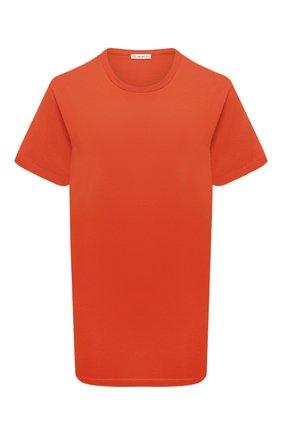 Женская хлопковая футболка MONCLER оранжевого цвета, арт. F2-093-8C778-10-V8161 | Фото 1