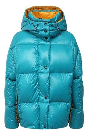 Женский пуховая куртка MONCLER бирюзового цвета, арт. F2-093-1A51N-00-C0067 | Фото 1