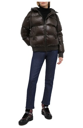 Женский пуховая куртка MONCLER хаки цвета, арт. F2-093-1A51S-00-54AN2 | Фото 2