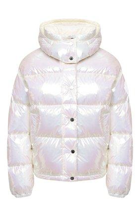 Женский пуховая куртка MONCLER белого цвета, арт. F2-093-1A571-00-54APA | Фото 1