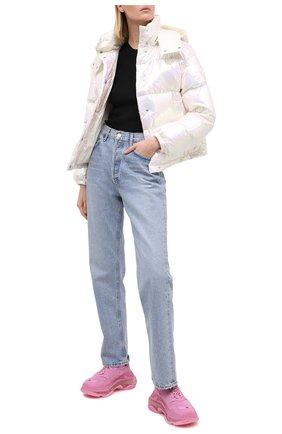 Женский пуховая куртка MONCLER белого цвета, арт. F2-093-1A571-00-54APA | Фото 2
