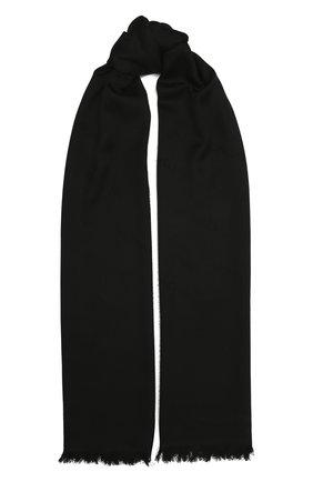 Мужские шарф из шерсти и шелка MONCLER черного цвета, арт. F2-093-3C714-00-A0149 | Фото 1