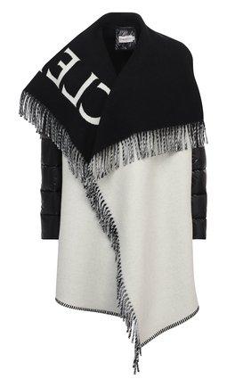 Женская шерстяное пончо MONCLER черно-белого цвета, арт. F2-093-3G507-00-A0145 | Фото 1