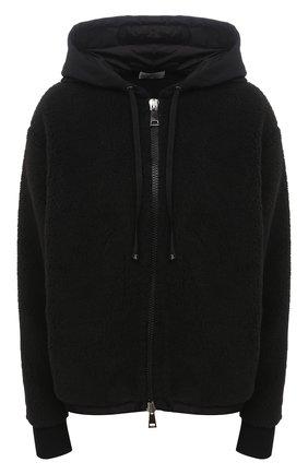 Женский хлопковая толстовка MONCLER черного цвета, арт. F2-093-8G734-00-V8145 | Фото 1