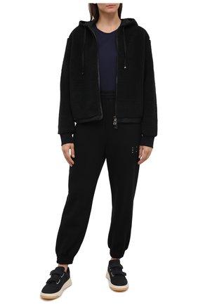 Женский хлопковая толстовка MONCLER черного цвета, арт. F2-093-8G734-00-V8145 | Фото 2