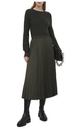 Женское шерстяное платье MONCLER хаки цвета, арт. F2-093-9I702-10-A9361 | Фото 2