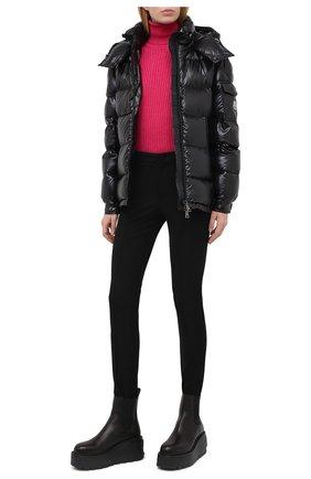 Женские брюки со штрипками MONCLER черного цвета, арт. F2-098-2A702-00-53064 | Фото 2