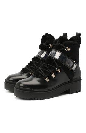 Женские кожаные ботинки trekkgirl VALENTINO черного цвета, арт. UW2S0Y97/KVN | Фото 1