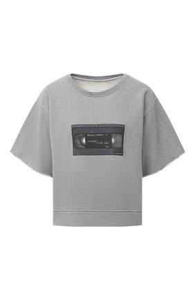 Женская хлопковый топ MM6 серого цвета, арт. S32GU0145/S25337 | Фото 1