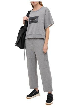 Женская хлопковый топ MM6 серого цвета, арт. S32GU0145/S25337 | Фото 2