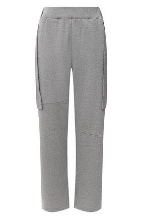 Женские хлопковые брюки MM6 серого цвета, арт. S32KA0631/S25337 | Фото 1