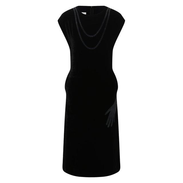 Платье из вискозы и шелка Mm6
