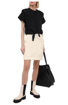 Женская хлопковая юбка SUBTERRANEI бежевого цвета, арт. I19subfw20-017   Фото 2