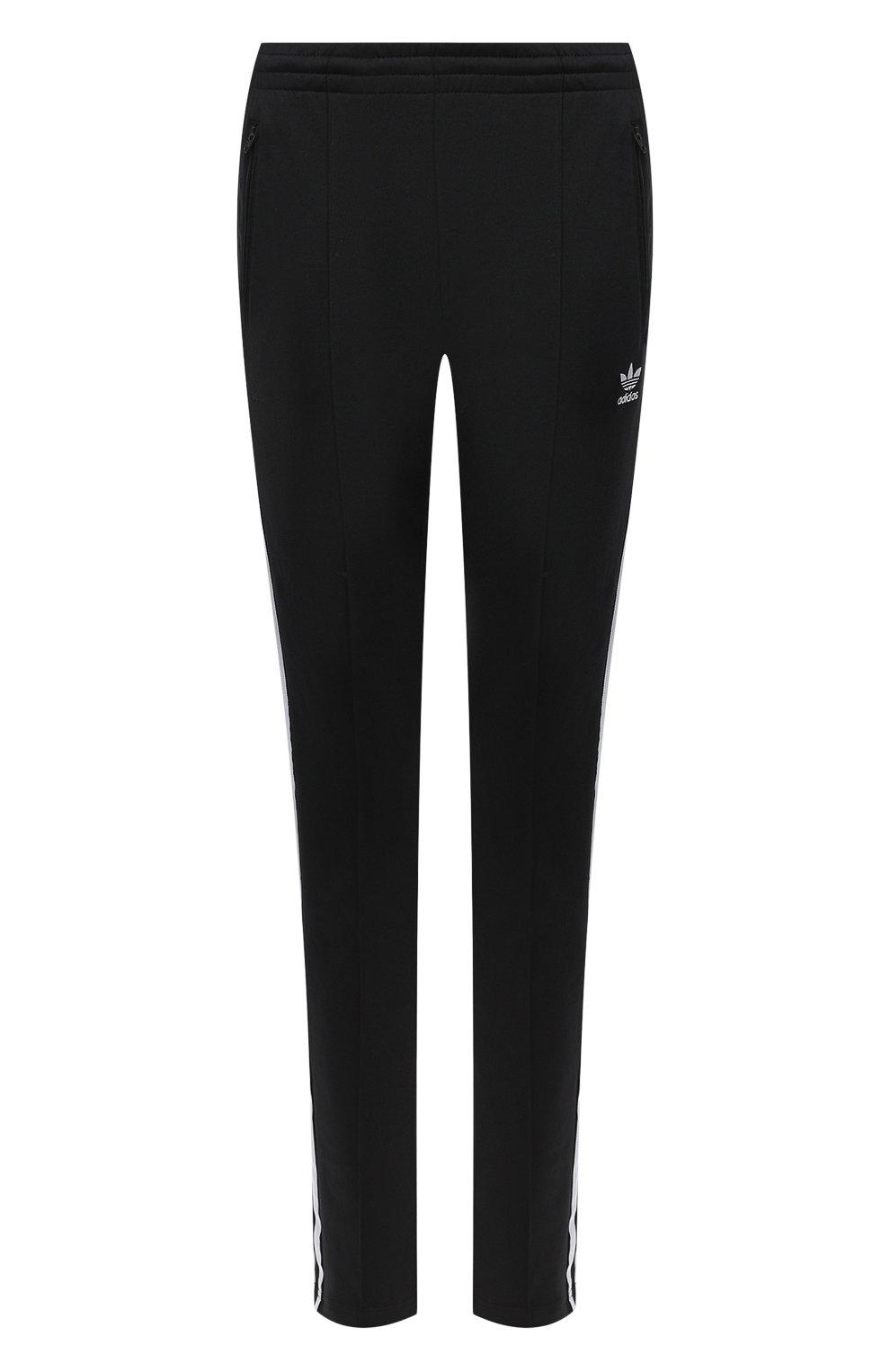 Женские брюки ADIDAS ORIGINALS черного цвета, арт. GD2361   Фото 1 (Женское Кросс-КТ: Брюки-спорт, Брюки-одежда; Длина (брюки, джинсы): Стандартные; Кросс-КТ: Спорт; Материал внешний: Синтетический материал, Хлопок; Силуэт Ж (брюки и джинсы): Узкие)
