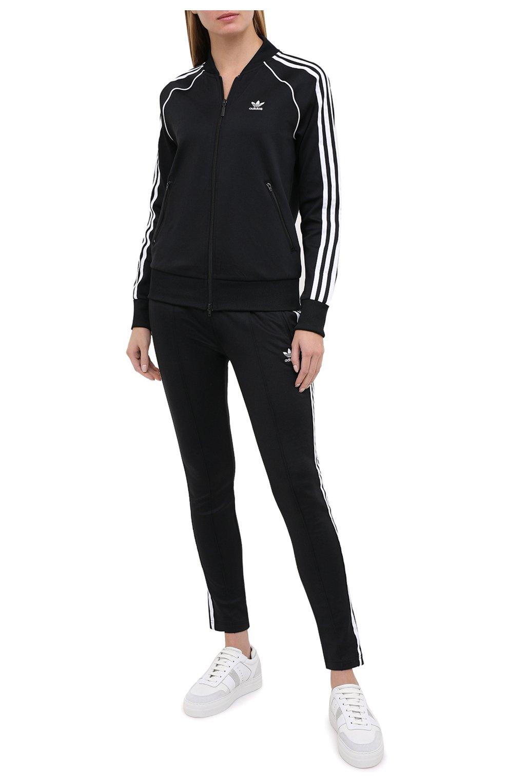 Женский толстовка ADIDAS ORIGINALS черного цвета, арт. GD2374 | Фото 2 (Рукава: Длинные; Женское Кросс-КТ: Толстовка-спорт, Кардиган-одежда; Кросс-КТ: Спорт; Материал внешний: Синтетический материал; Длина (для топов): Стандартные; Стили: Спорт-шик)