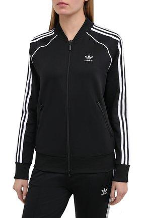 Женский толстовка ADIDAS ORIGINALS черного цвета, арт. GD2374 | Фото 3 (Рукава: Длинные; Женское Кросс-КТ: Толстовка-спорт, Кардиган-одежда; Кросс-КТ: Спорт; Материал внешний: Синтетический материал; Длина (для топов): Стандартные; Стили: Спорт-шик)