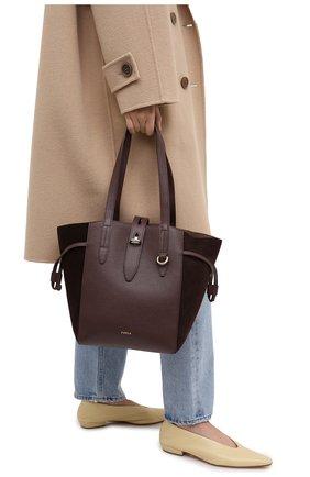 Женский сумка-тоут furla net FURLA коричневого цвета, арт. BZT0FUA/A.0011 | Фото 2