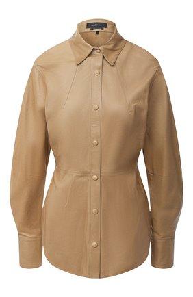 Женская кожаная рубашка ISABEL MARANT бронзового цвета, арт. HT1643-20A002I/XIA0 | Фото 1
