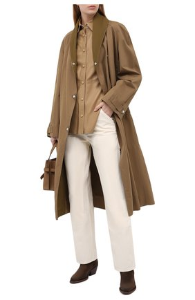 Женская кожаная рубашка ISABEL MARANT бронзового цвета, арт. HT1643-20A002I/XIA0 | Фото 2