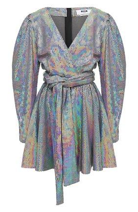 Женское платье MSGM серебряного цвета, арт. 2941MDA152 207662   Фото 1