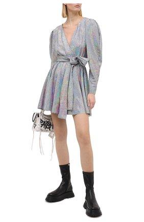 Женское платье MSGM серебряного цвета, арт. 2941MDA152 207662   Фото 2