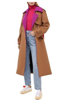 Женское шерстяное пальто MSGM коричневого цвета, арт. 2941MDC20Y 207521   Фото 2