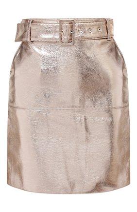 Женская юбка из вискозы MSGM серебряного цвета, арт. 2941MDD17 207684 | Фото 1