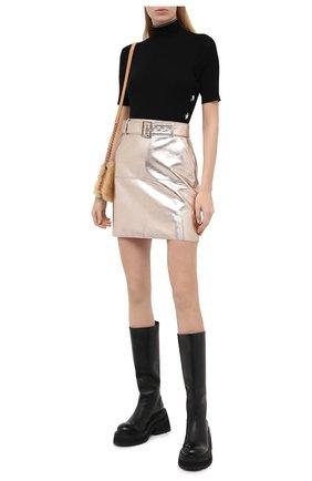 Женская юбка из вискозы MSGM серебряного цвета, арт. 2941MDD17 207684 | Фото 2