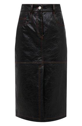 Женская юбка MSGM черного цвета, арт. 2941MDD22 207670 | Фото 1
