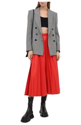 Женская юбка MSGM красного цвета, арт. 2941MDD29P 207652 | Фото 2