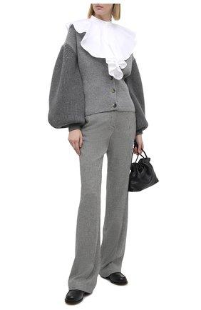 Женские брюки из вискозы и шерсти MSGM черно-белого цвета, арт. 2941MDP14 207518 | Фото 2