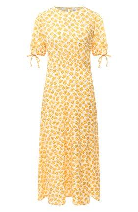 Женское платье из вискозы FAITHFULL THE BRAND желтого цвета, арт. FF1613-BTE | Фото 1