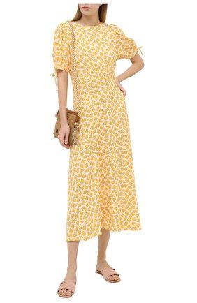 Женское платье из вискозы FAITHFULL THE BRAND желтого цвета, арт. FF1613-BTE | Фото 2